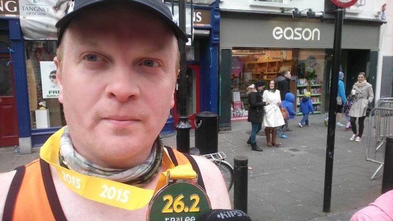 Michael O'Donoghue with his Tralee International Marathon medal