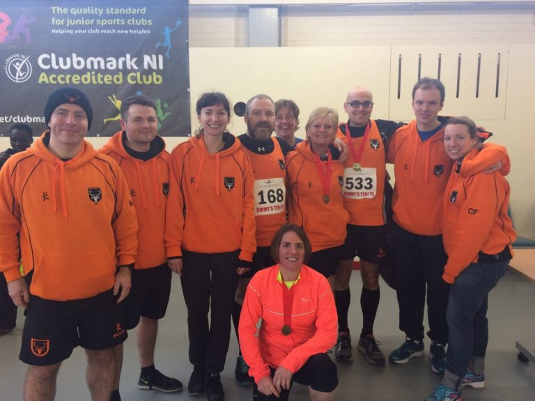 The OAC team who ran at Jimmy's 10K