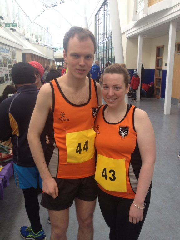 Andy McIntyre and Catherine Fearon took part in the Stranraer Half Marathon